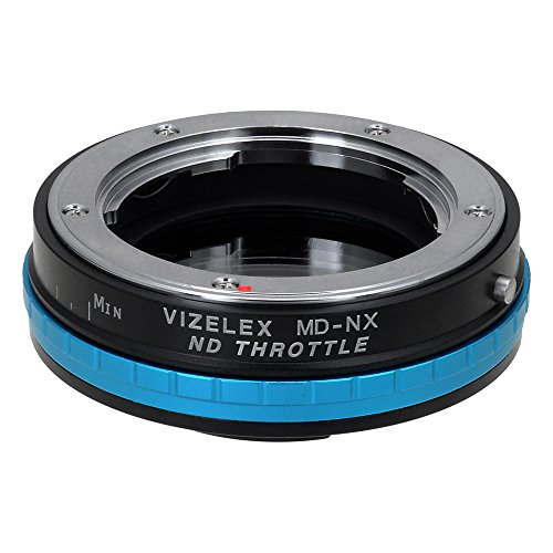 Vizelex ND Throttle Adapter van Fotodiox Pro - Minolta MD/MC/SR Rokkor Lens naar Samsung NX Camera Adapter (zoals NX1, NX3000, NX30, NX300M) - met Built-In Variable ND Filter (ND2-ND1000)