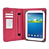 Azpen A742 7 Inch Tablet Case, UniGrip PRO Series - Pink - by Cush Cases (Case Features PU Leather with Bulit in Stand, Hand Strap, 3 Card Slots and SIM Card Holder)