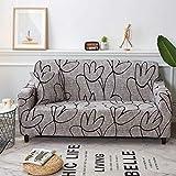 Funda de sofá elástica con Estampado Floral, Fundas elásticas Protectoras para Muebles, Fundas de sofá, Fundas de sofá para Sala de Estar A21, 4 plazas