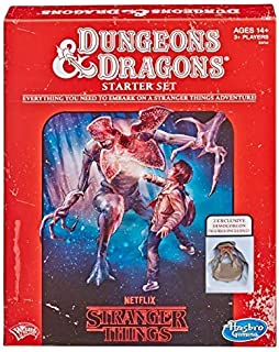 DUNGEONS & DRAGONS - NETFLIX - Stranger Things - Roleplaying Game Starter Set - 2 exclusive figures - 3+ Players - Wizards of the coast - Ages 14+