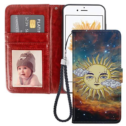 Naikuyi Funda tipo cartera para iPhone 5, iPhone 5S, iPhone SE, torre Eiffel, cartera de piel sintética con soporte de visualización y ranuras para tarjetas, funda tipo libro y correa de muñeca para iPhone 5/5S/SE