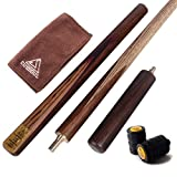 "CUESOUL 57"" Handcraft 3/4 Jointed Snooker Cue with Mini Butt End Extension"