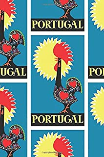 Portugal: 1965  Rooster Of Barcelos Travel Poster Notebook, Journal for Writing, Size 6
