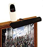Cordless Picture Light with Remote Control–Color: Black – for...
