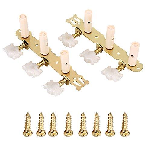 VGEBY1 Cabezales de 2 Piezas, 3L 3R Afinadores de Afinación para Guitarra...