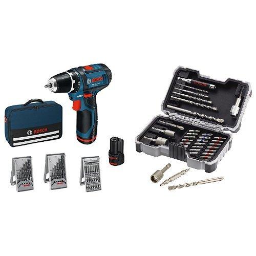 Bosch proffesional GSR 10,8-2-LI - Atornillador taladrador a batería + Set de brocas y puntas de atornillar (35 piezas)