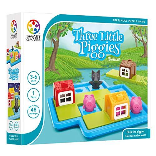 smart games -  Juego de lógica Los Tres Cerditos Deluxe (SG019)