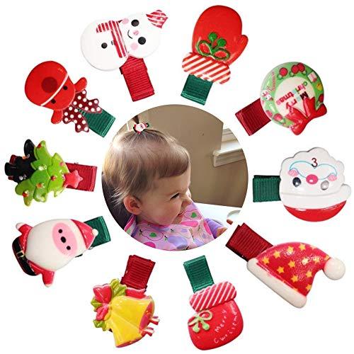 Clips Pelo Navidad Bebe Marca PHOGARY