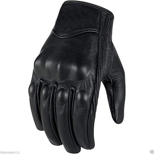Australian Bikers Gear guantes de moto cortos en cuero negro Cruisers XS