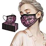 SUNBIBE 50PC Disposable Mouth Cover, Lace Adult Cover Bandanas Breathable Guard Nose Industrial Mouthproof Face Product Ear Loop Dust Windproof Mouth Face Sleeve (Red)