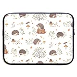 Waterproof Laptop Sleeve 15 Inch, Hedgehog Pattern Business Briefcase Protective Bag, Computer Case Cover for Ultrabook, MacBook Pro, MacBook Air, Asus, Samsung, Sony, Notebook