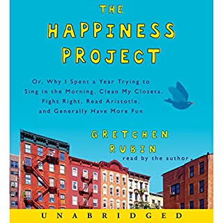 The Happiness Project                   Written by:                                                                                                                                 Gretchen Rubin                               Narrated by:                                                                                                                                 Gretchen Rubin                      Length: 10 hrs and 15 mins     52 ratings     Overall 4.2