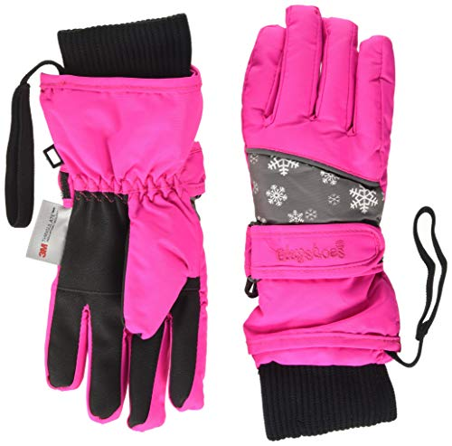 Playshoes Unisex Winter Finger Handschuhe, Skihandschuhe, Pink Schneeflocke, 4