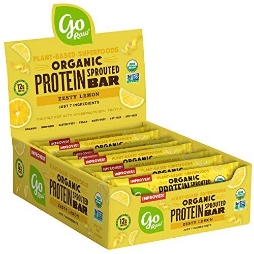 go Raw Protein Bars, Zesty Lemon | Gluten Free Energy Bar | Organic | Vegan | Natural (12 Bars), B01N01SEHO