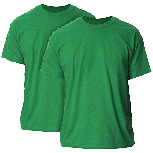 Gildan Men's Ultra Cotton T-Shirt, Style G2000, 2-Pack, Antique Irish Green, Medium