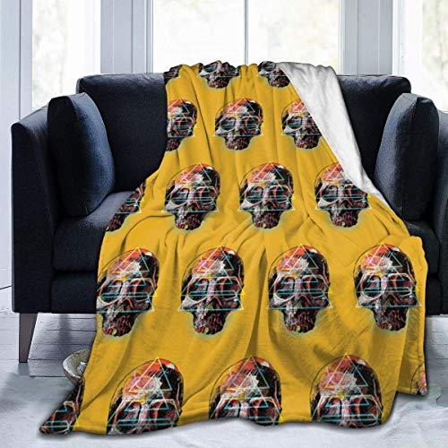 Yuanmeiju Fleece Throw Decke Stay A Totenkopf Super Soft Throw Decke für Bed Couch Sofa Lightweight Travelling Camping Throw für Kinder Erwachsene