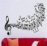 Notas Musicales Clave De Sol Decoración De Arte Calidad Música Calcomanía De Pared Vinilo Adhesivo Decoración Del Hogar Mural De Pared Vinilo Arte Papel De Pared