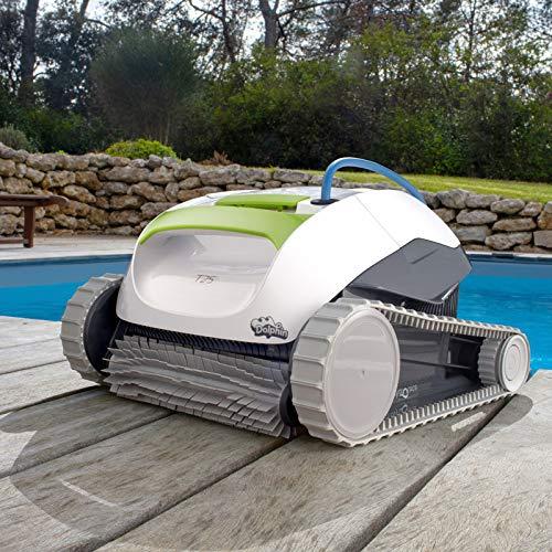 DOLPHIN Robot de Piscine électrique Maytronics T25 - Autonome, Nettoyage du Fond et des Parois, Compatible Tout Type de Revêtement de Piscine Enterrée et Hors-Sol