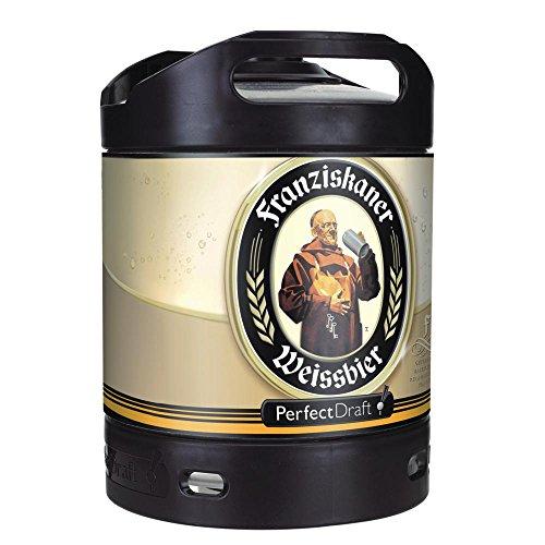 4 x Franziskaner Weissbier Perfect Draft 6 Liter Fass, inkl. 20.00€ Pfand MEHRWEG