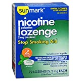 Sunmark Sunmark Nicotine Polocrilex Lozenge, Mint 72 each 2 mg