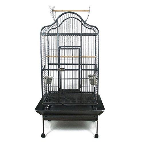 Pet's Solution Voliera Gabbia per pappagalli. Cenerino, Amazone, cacatua ECC. Dim. EST. 80 x 76 x...