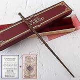 C-Y Varita de Hermione con Caja de Cinta Dura, Cane de la Serie de 14'Harry Potter, Varita mágica de los Accesorios de Halloween y de Navidad