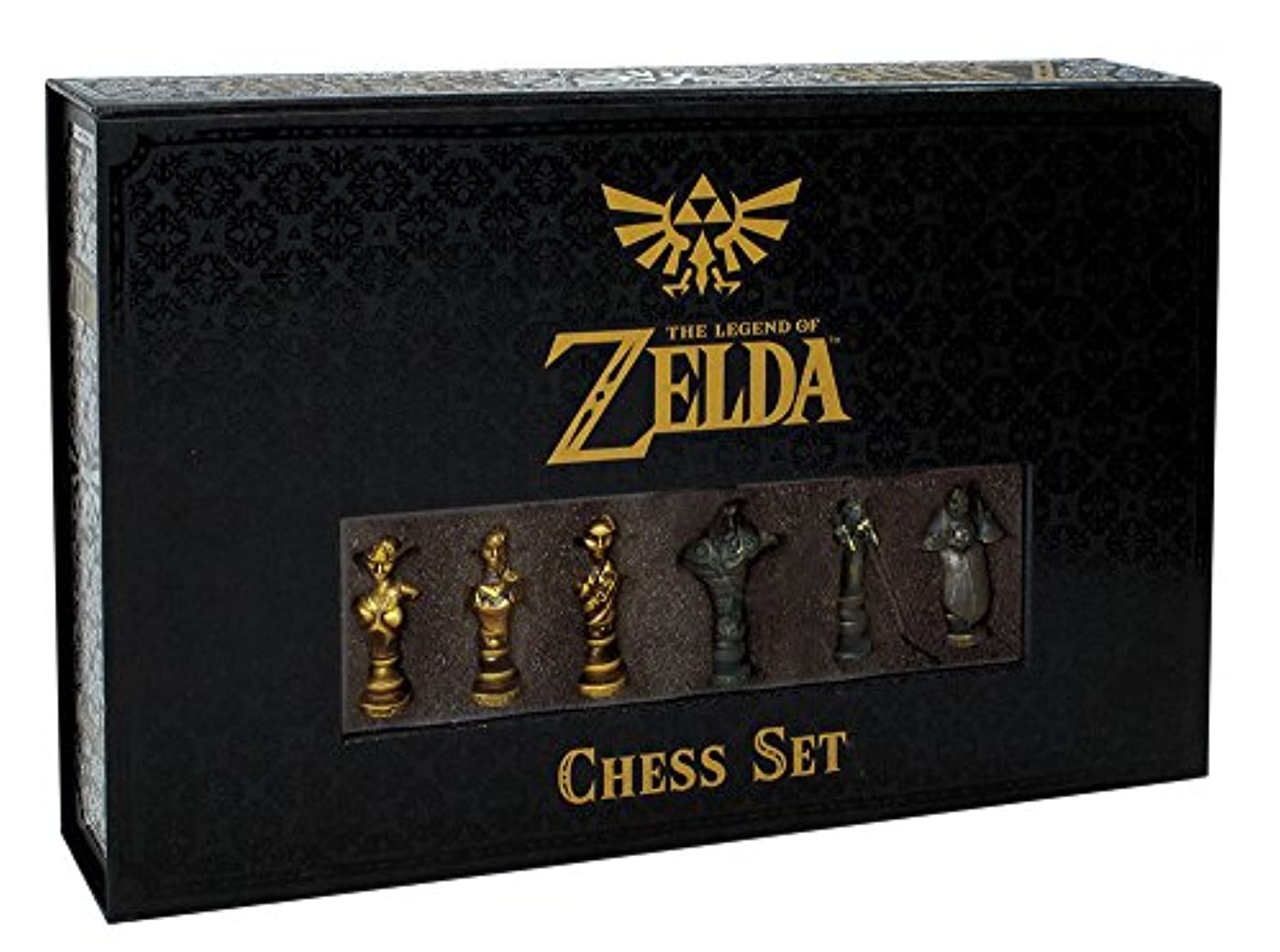 USAOPOLY The Legend of Zelda Chess Set   32 Custom Sculpt Chesspiece   Link vs. Ganon   Themed Chess Game from The Nintendo Zelda Video Games