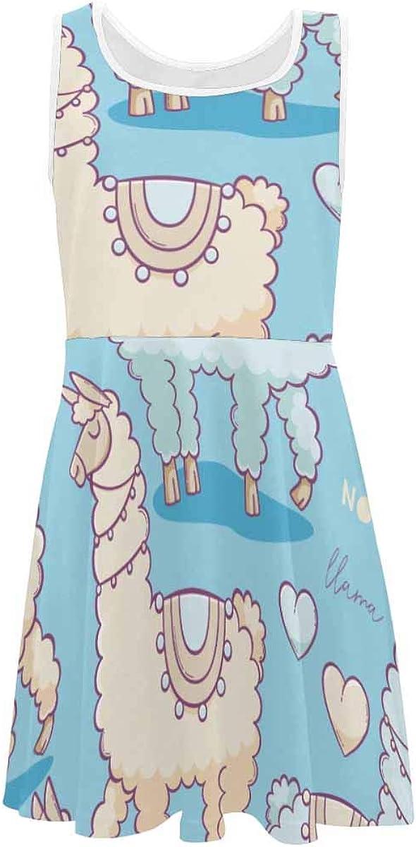 InterestPrint Classic Girls Sleeveless Dress Summer Casual Dresses Multicolored Butterflies Boho Hippie (2T-XL)