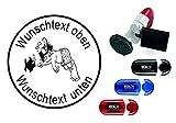 Taucherstempel « TAUCHER 04 » mit persönlichem Namen & Tauchspruch - Abdruckgröße ca. Ø 24 mm...