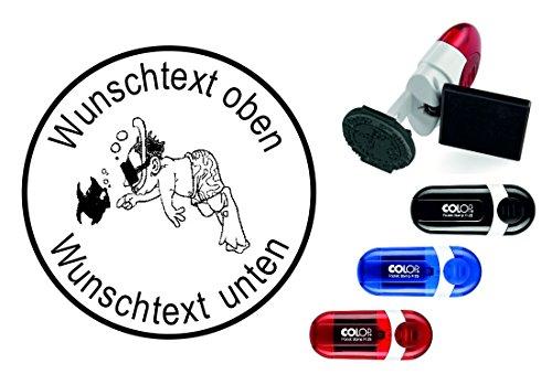 Taucherstempel « TAUCHER 04 » mit persönlichem Namen & Tauchspruch - Abdruckgröße ca. Ø 24 mm - Tauchen Diving - Stempel für Logbuch