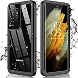 Nineasy for Samsung Galaxy S21 Ultra Case, Galaxy S21 Ultra Waterproof Case with Built-in Screen Protector, 360°Full Body Protective Heavy Duty Shockproof Clear Cover for Galaxy S21 Ultra 6.8' 5G