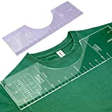 Acrylic Tshirt Alignment Tool, 18×5 Inch T-Shirt Alignment Guide Tool Ruler for Fabric Cutting Sewing Tshirt Crafts Can Simple and Precise Cutting
