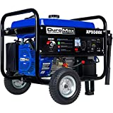 DuroMax XP5500E Gas Powered Portable Generator-5500 Watt Electric Start-Camping & RV Ready, 50 State Approved, Blue/Black