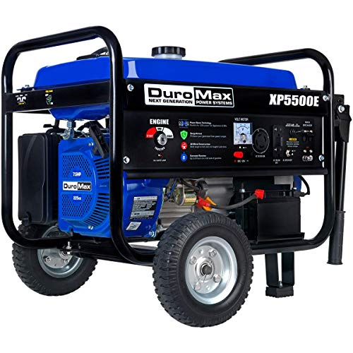 DuroMax XP5500E 5500 watt 7.5-Hp Gas Powered Generator with Electric Start
