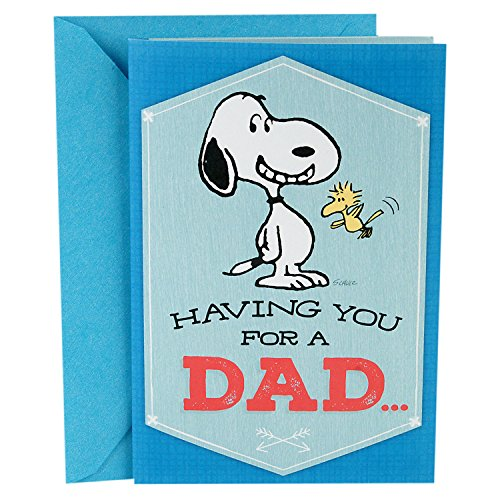 Hallmark Father's Day Card for Dad With Song (Peanuts Snoopy Pop Up, Plays Linus and Lucy by Vince Guaraldi)