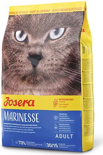 JOSERA Marinesse (1 x 400 g) | getreidefreies Katzenfutter mit Lachs | hypoallergen | Super Premium Trockenfutter | 1er Pack