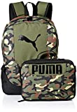 PUMA Kids' Big Evercat Backpack & Lunch Kit Combo, Olive, Youth Size