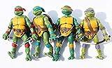 YZDMC as4 Modelos clásicos nostálgicos de Las Tortugas Ninja Mutantes Adolescentes con Figura de Modelo Base