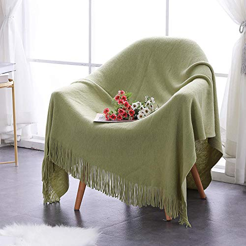 Amosiwallart Flannel Fleece Blanket Throw Home BlanketFluffy Blanket Warm Bed Throws for Sofa and PetExquisite Comfortable Flannel Fleece Blanket-Fruit Green Tablet_130*170cm