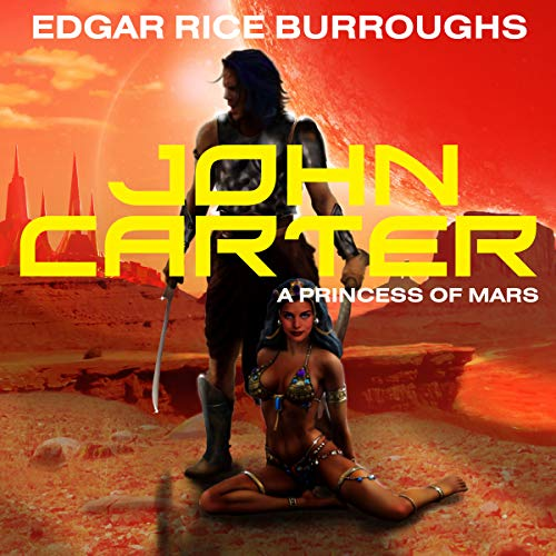 John Carter in 'A Princess of Mars' audiobook cover art