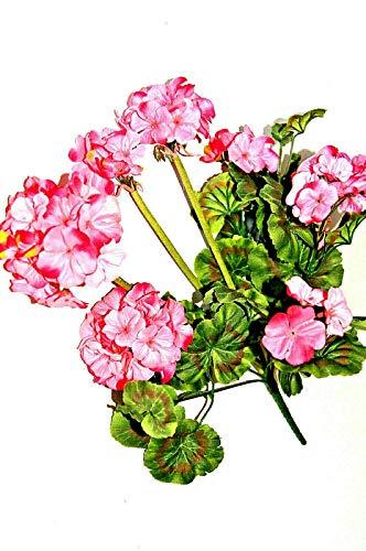 tatjana-land-deko Geranienhänger Artificiales Flores Kunstblumen Geranienhänger decoración J1