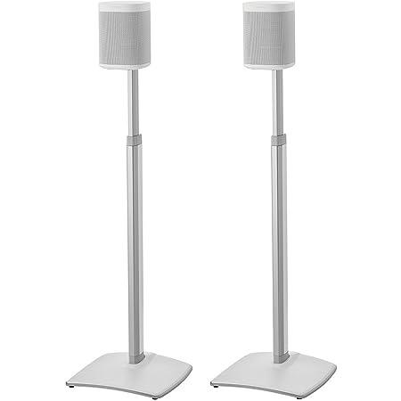 Sanus Höhe Verstellbare Lautsprecher Ständer In Kabellos Paar Für Sonos One Play 1 Und Play 3 Weiß Audio Hifi