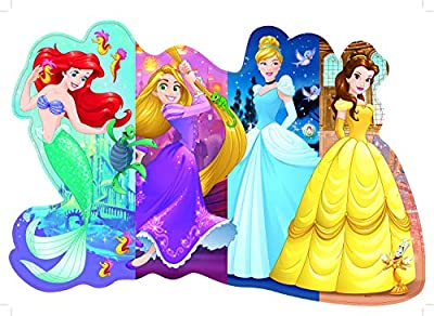 Ravensburger Disney Princess Pretty Princesses Shaped Floor Puzzle 24 Piece Jigsaw Puzzle for Kids – Every Piece is Unique, Pieces Fit Together Perfectly