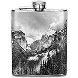 N/A Forest Yosemite National Park Kalifornien Flasche Edelstahl Kleine Hüftflasche Herren Auslaufsicher Flagon Outdoor 7 OZ