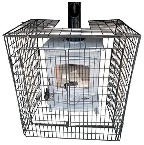 Protección para estufa con diseño único, compacto y