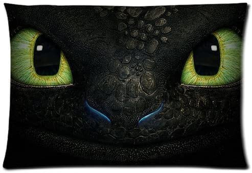 Bedroom Decor Custom How to Train Your Dragon Night Fury Face Pillowcase Rectangle Zippered product image