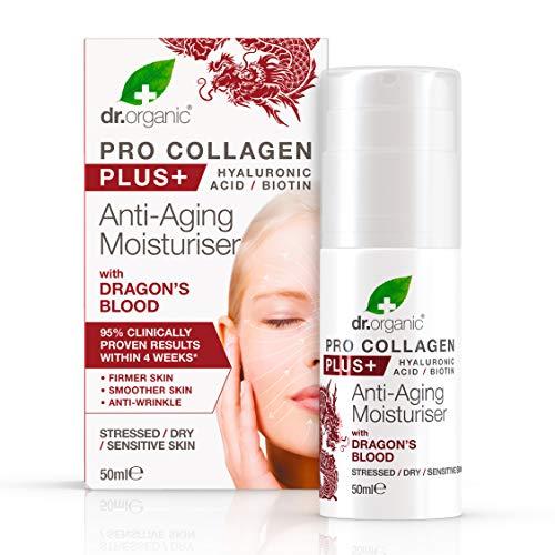 Dr. Organic Pro Collagen Plus+ Crema Viso Idratante Anti-Età, 50ml