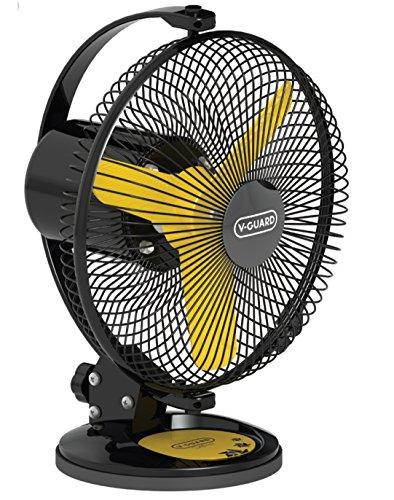 V Guard Personal Fan- Selfee 225mm Yellow Black