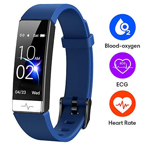 GOGUM Fitness Tracker, Heart Rate Monitor IP68 Waterproof Activity Tracker HRV Health Watch SPO2 Blood Oxygen Blood Pressure with Sleep Monitor and 11 Sport Modes for Women and Men (Blue)