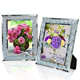 SixCivet Picture Frames 5x7 Glass Picture Frames Set of 2 Picture Frames for Tabletop Display